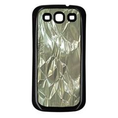 Crumpled Foil Samsung Galaxy S3 Back Case (Black)
