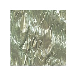 Crumpled Foil Small Satin Scarf (square)