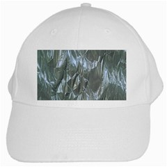 Crumpled Foil Blue White Cap
