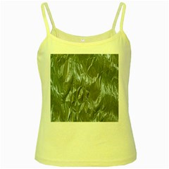 Crumpled Foil Blue Yellow Spaghetti Tanks