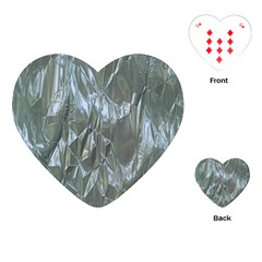 Crumpled Foil Blue Playing Cards (Heart)