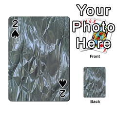 Crumpled Foil Blue Playing Cards 54 Designs