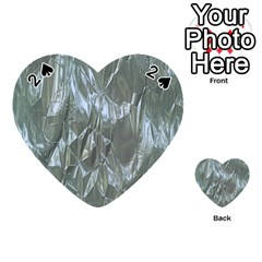 Crumpled Foil Blue Playing Cards 54 (Heart)