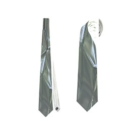 Crumpled Foil Blue Neckties (one Side)