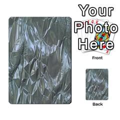 Crumpled Foil Blue Multi Purpose Cards (rectangle)