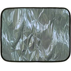 Crumpled Foil Blue Fleece Blanket (mini)