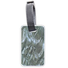 Crumpled Foil Blue Luggage Tags (Two Sides)