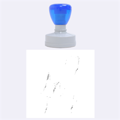 Crumpled Foil Blue Rubber Round Stamps (Large)