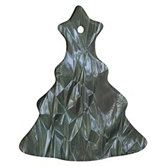 Crumpled Foil Blue Ornament (christmas Tree)