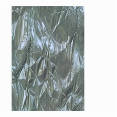 Crumpled Foil Blue Small Garden Flag (Two Sides)