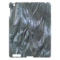 Crumpled Foil Blue Apple iPad 3/4 Hardshell Case