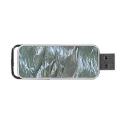 Crumpled Foil Blue Portable USB Flash (Two Sides)