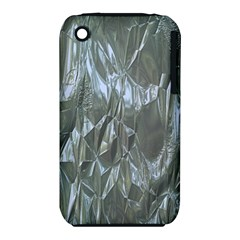 Crumpled Foil Blue Apple iPhone 3G/3GS Hardshell Case (PC+Silicone)