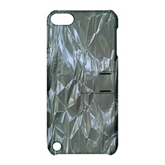 Crumpled Foil Blue Apple iPod Touch 5 Hardshell Case with Stand