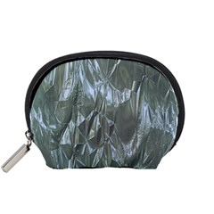 Crumpled Foil Blue Accessory Pouches (Small)