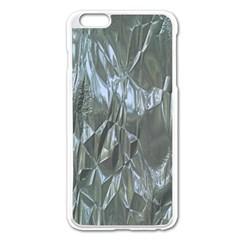Crumpled Foil Blue Apple iPhone 6 Plus/6S Plus Enamel White Case