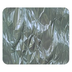 Crumpled Foil Blue Double Sided Flano Blanket (Small)