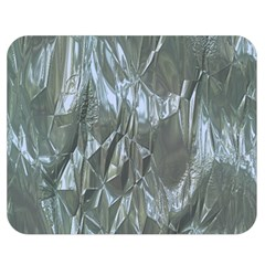 Crumpled Foil Blue Double Sided Flano Blanket (Medium)