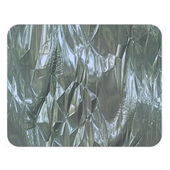 Crumpled Foil Blue Double Sided Flano Blanket (Large)