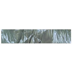Crumpled Foil Blue Flano Scarf (Small)