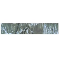 Crumpled Foil Blue Flano Scarf (Large)