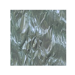 Crumpled Foil Blue Small Satin Scarf (Square)