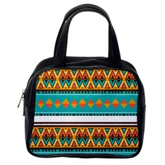 Tribal design in retro colors Classic Handbag (One Side)
