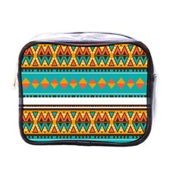 Tribal design in retro colors Mini Toiletries Bag (One Side)