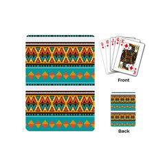 Tribal Design In Retro Colors Playing Cards (mini)