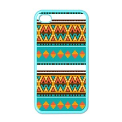 Tribal design in retro colors Apple iPhone 4 Case (Color)
