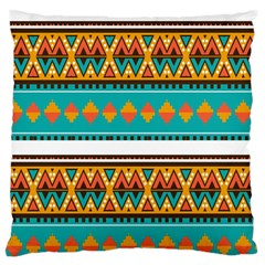 Tribal design in retro colors Large Cushion Case (Two Sides)