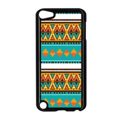 Tribal design in retro colors Apple iPod Touch 5 Case (Black)