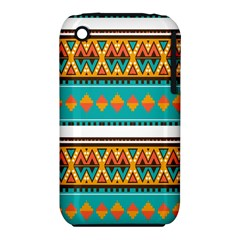 Tribal design in retro colors Apple iPhone 3G/3GS Hardshell Case (PC+Silicone)