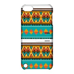 Tribal design in retro colors Apple iPod Touch 5 Hardshell Case with Stand