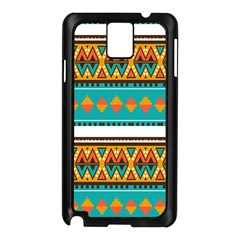 Tribal design in retro colors Samsung Galaxy Note 3 N9005 Case (Black)