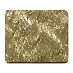 Crumpled Foil Golden Large Mousepads