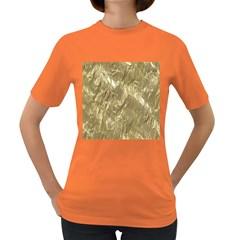Crumpled Foil Golden Women s Dark T-Shirt