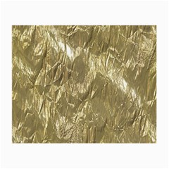Crumpled Foil Golden Small Glasses Cloth