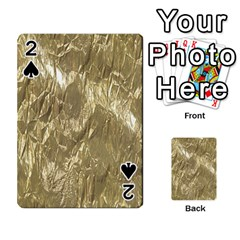 Crumpled Foil Golden Playing Cards 54 Designs