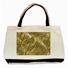 Crumpled Foil Golden Basic Tote Bag