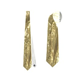 Crumpled Foil Golden Neckties (two Side)