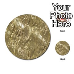 Crumpled Foil Golden Multi Purpose Cards (round)