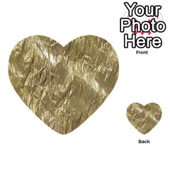 Crumpled Foil Golden Multi-purpose Cards (Heart)