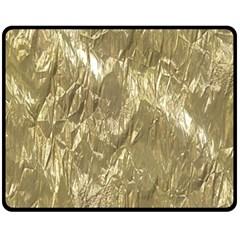 Crumpled Foil Golden Fleece Blanket (Medium)