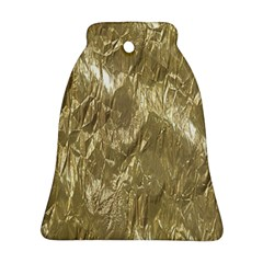 Crumpled Foil Golden Ornament (Bell)