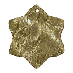 Crumpled Foil Golden Snowflake Ornament (2-Side)