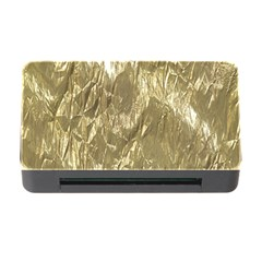 Crumpled Foil Golden Memory Card Reader With Cf