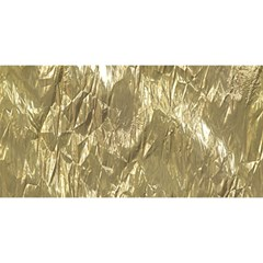 Crumpled Foil Golden YOU ARE INVITED 3D Greeting Card (8x4)