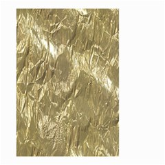 Crumpled Foil Golden Small Garden Flag (two Sides)