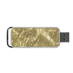 Crumpled Foil Golden Portable USB Flash (One Side)